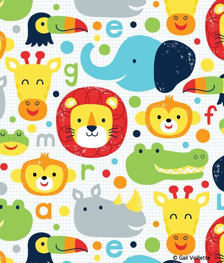 17 best images about backgrounds children on pinterest for Childrens animal fabric