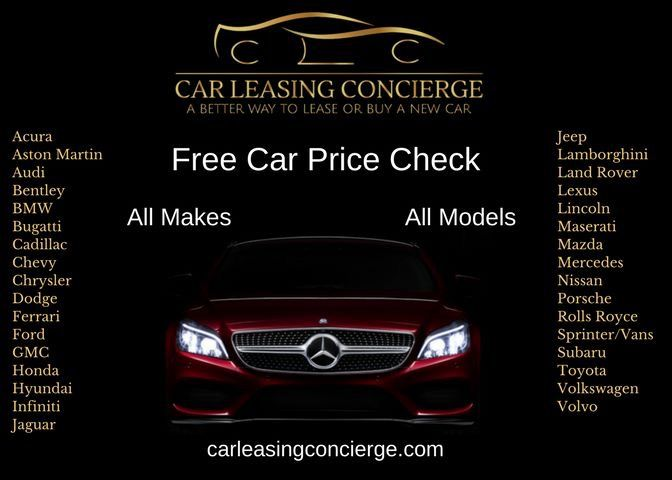 Always a FREE car price check with Car Leasing Concierge! 800-886-1950 #free #Audi #Acura #BMW #Cadillac #Ferrari #Ford #Honda #Infiniti #Jaguar #Jeep #LandRover #Lexus #Maserati #Mercedes #Nissan #Porsche #Toyota #Volkswagen