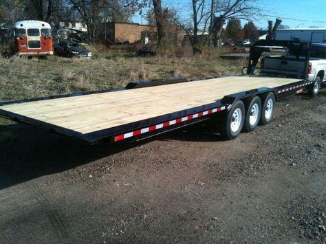 8.5'x30' gooseneck flatbed trailer for tiny house