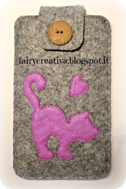 Fairy Creativa: Portacellulari in feltro