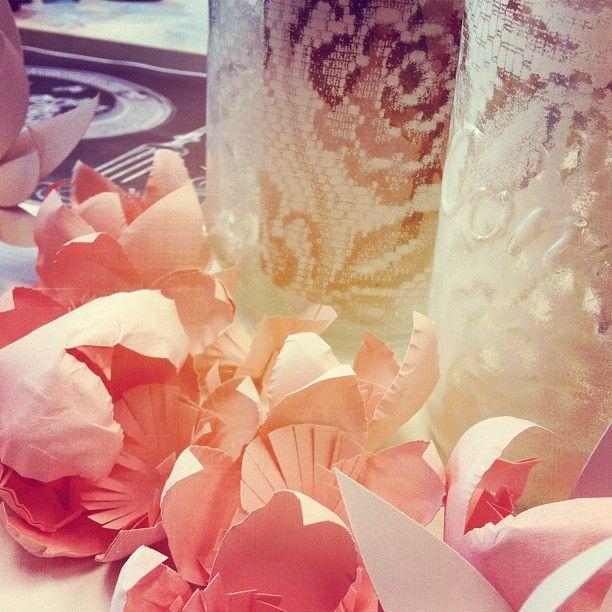 Paper flower décor