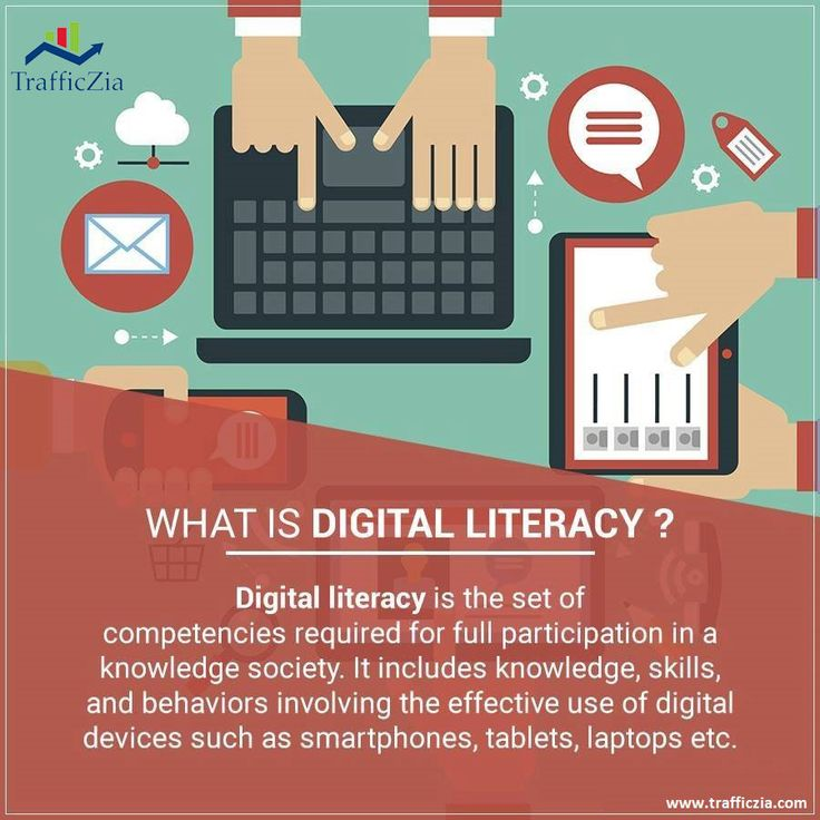 #DigitalLiteracy is the set of competencies required includes knowledge, skills, and behaviors involving the effective use of #Digitaldevices. #trafficzia