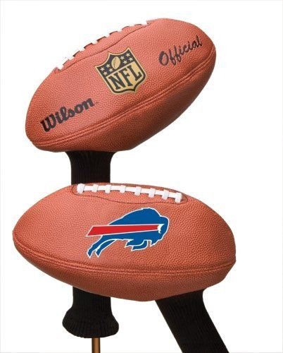 NFL Buffalo Bills Football Head Cover by Dorson. $23.99. Accomodates both midsize and oversized clubs up to 460cc.. Official NFL logo and team logo emblazoned on head cover. Protects your valuable club heads from nicks and avbrasions. Extra long Knit Neck offers ideal ptotection for graphite shafts. Ready, set, fore! You can show your passion for pigskin on the golf course by covering your driver with the Wilson® NFL® team football golf club head cover. The syn...