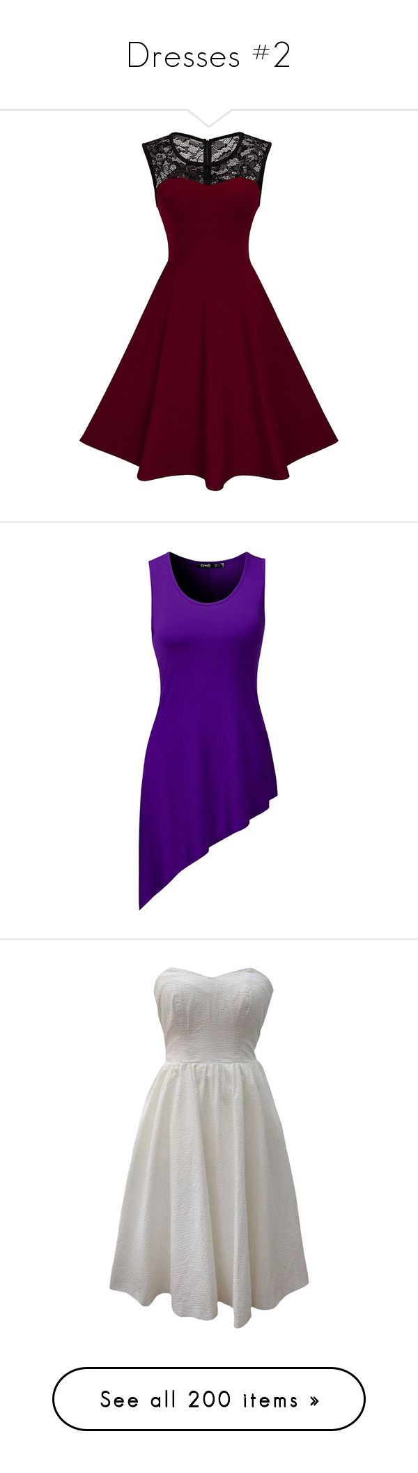 """""""Dresses #2"""" by dino-satan666 ❤ liked on Polyvore featuring dresses, evening dresses, holiday dresses, cocktail dresses, vintage dresses, purple dresses, tops, tunics, purple top and purple tunic"""