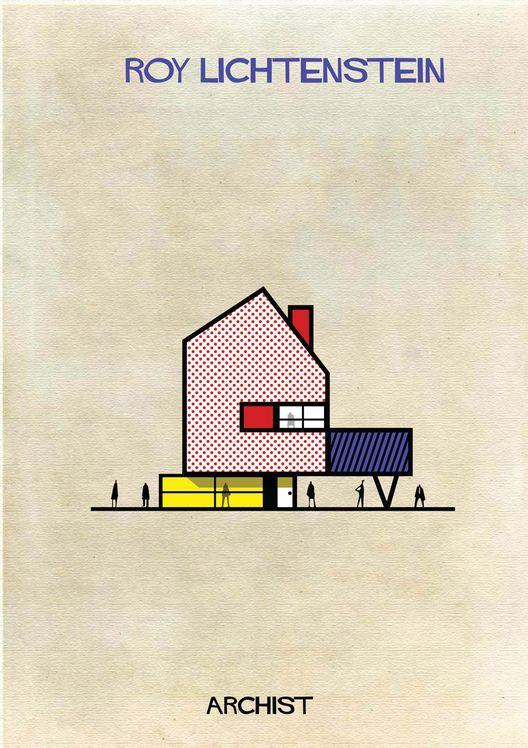 ARCHIST: Ilustraciones Famosas de Arte Reimaginadas como Arquitectura,Courtesy of Federico Babina
