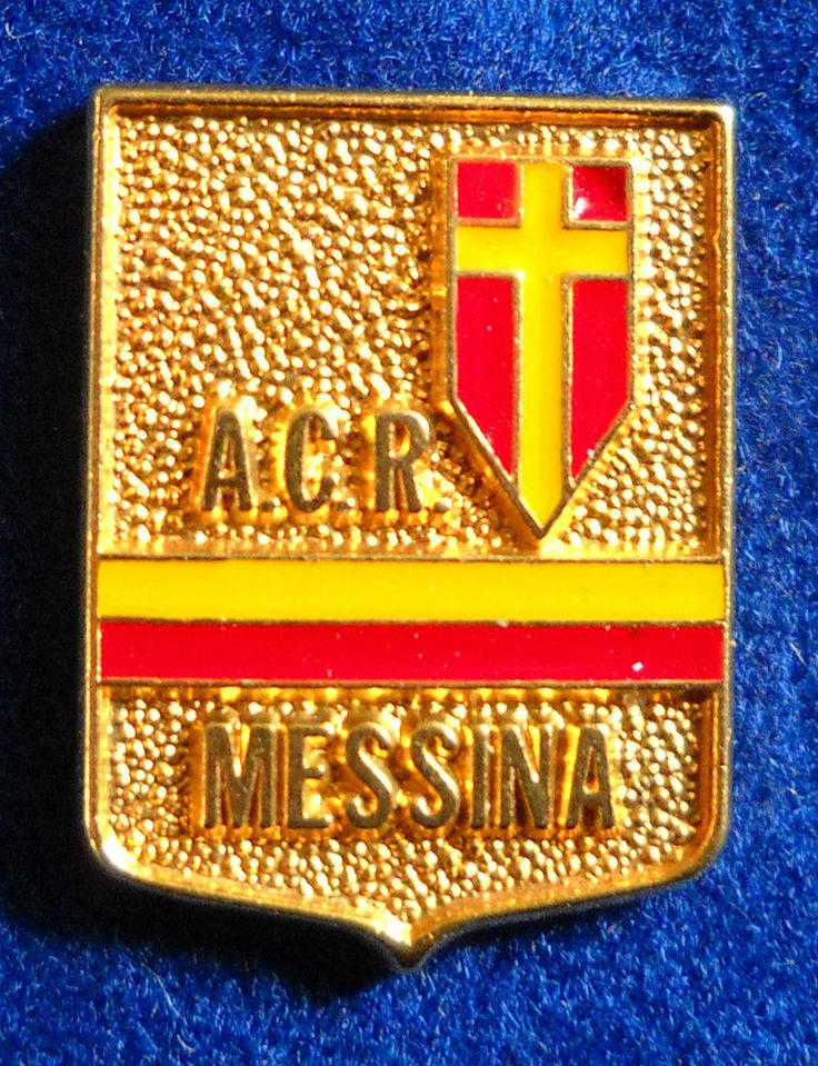 DISTINTIVO SPILLA PIN BADGE A.C.R. MESSINA CALCIO