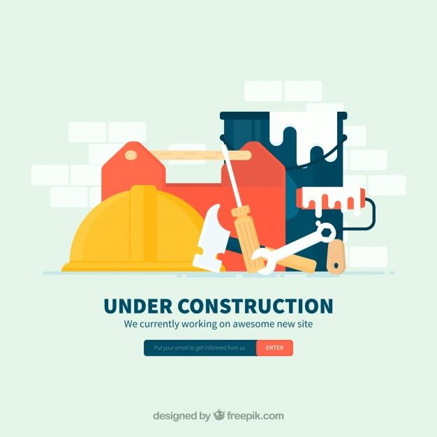 Flat under construction template Free #Vector  #Design #Template #Construction #Sign #Flat #Tools #Flatdesign #Underconstruction #Constructiontools