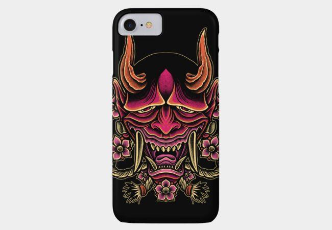 Red Devil Mask Phone Case
