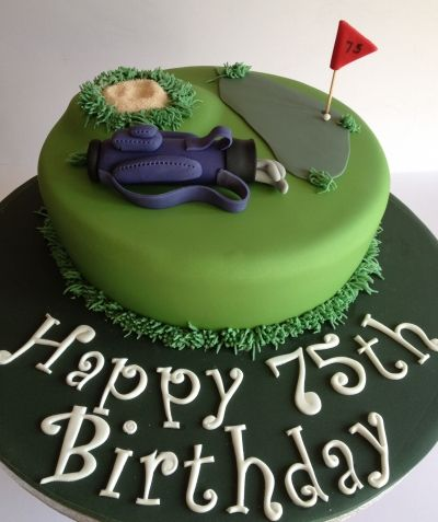 75th birthday cake for a keen golfer
