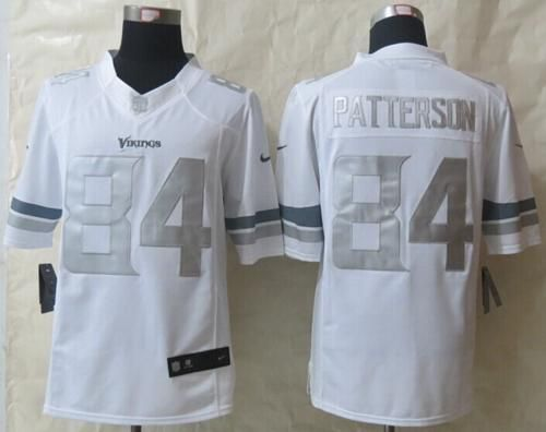 nike vikings cordarrelle patterson white mens stitched nfl limited platinum jersey and bengals tyler