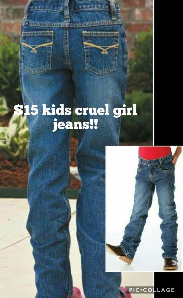 CRUEL GIRL GEORGIA JEANS Youth Girls LOW RISE SIZE 16 R NWT Cowgirl Western #CRUELGIRL #BootCut
