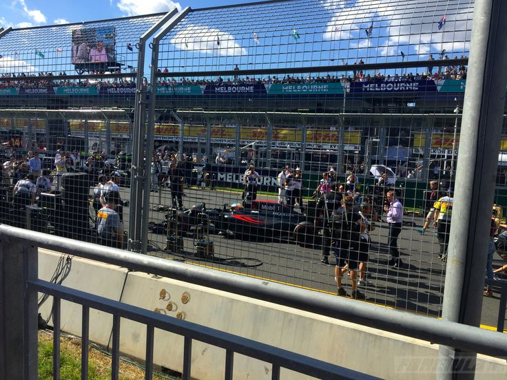 Alonso shortly before his big crash...Melbourne F1 2016