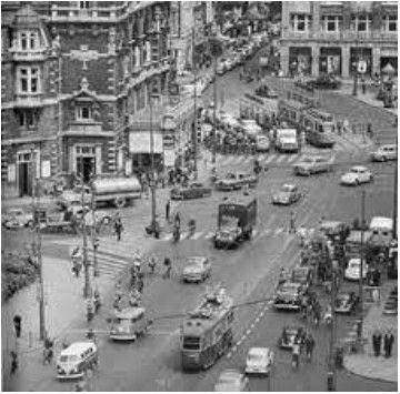 1960. Leidseplein in Amsterdam in the sixties. #amsterdam #1960 #leidseplein