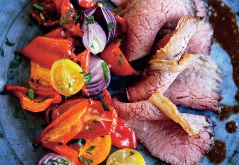 Langtidsstegt culottesteg med bagte grøntsager | 5:2 Kuren