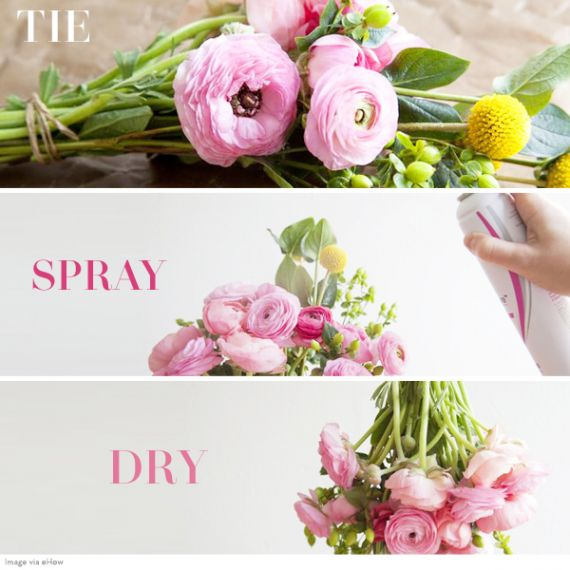How to Dry Flowers with Hairspray