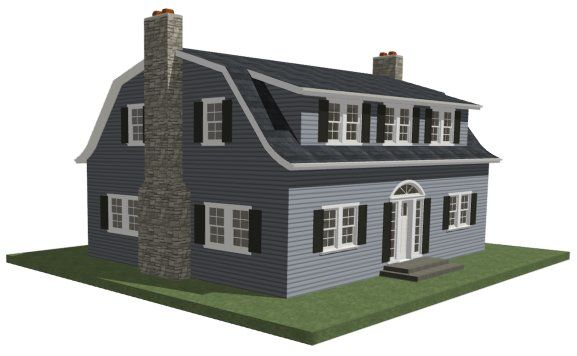 We have a gambrel with no dormers :( would love this shed style... How to create a dormer in a roof with multiple pitches - Chief Architect Software Help