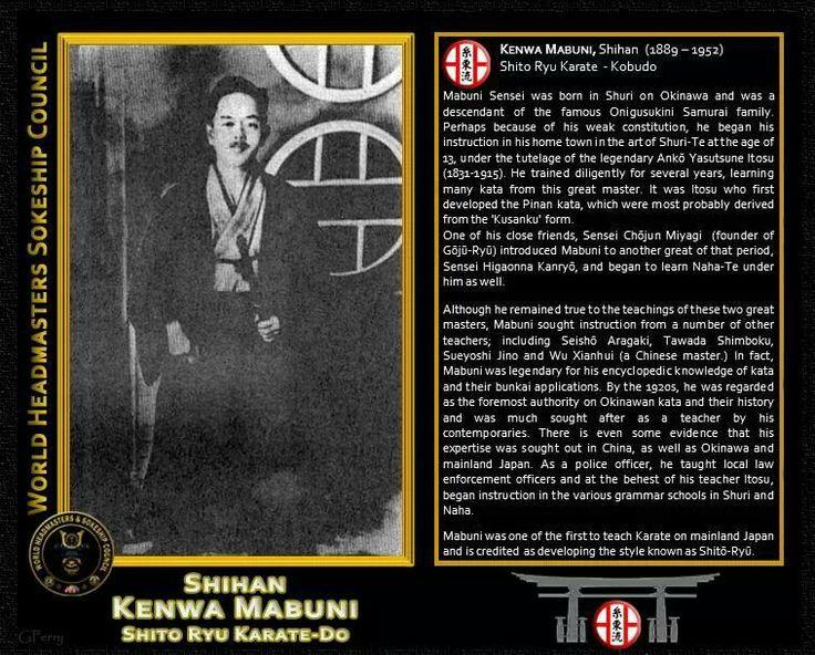 Shito ryu karate do. Kenwa Mabuni Shihan.