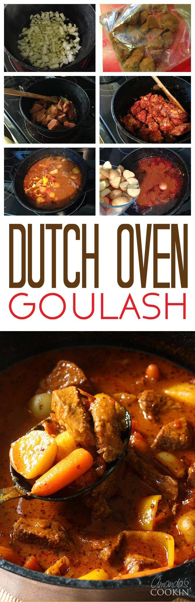 This dutch oven goulash is an easy, hearty recipe that is perfect for taking the chill out of the fall months!