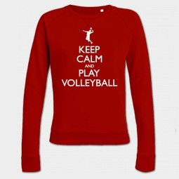 Keep Calm and Play Volleyball Vrouwen sweater - Shirtcity