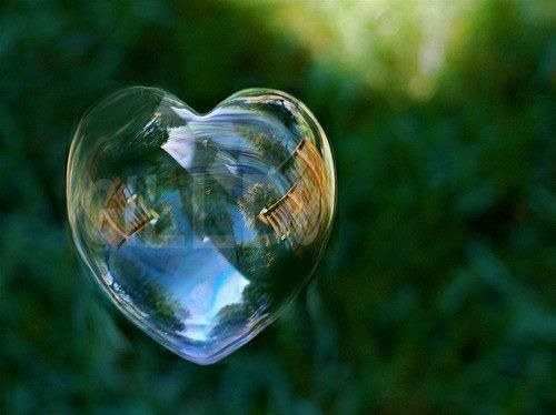 It's a bubble heart!!