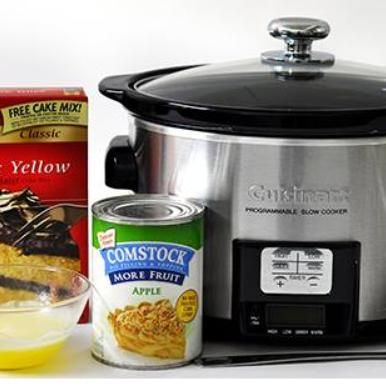 Crockpot Cobbler : Don't have all day to bake? A crockpot and three ingredients make it seem like you did!