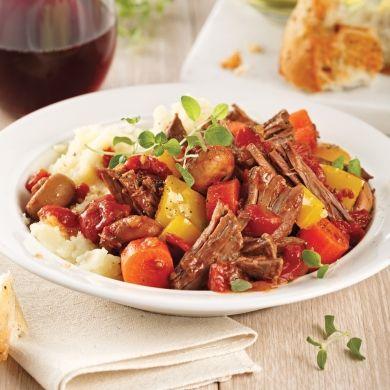 Rôti de palette de boeuf au vin rouge - Recettes - Cuisine et nutrition - Pratico Pratique