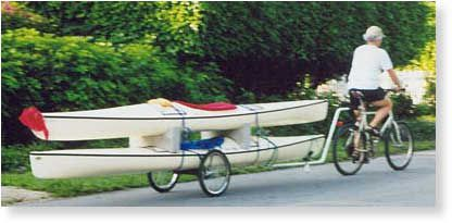 The Trayak Bicycle Trailer for kayaks.