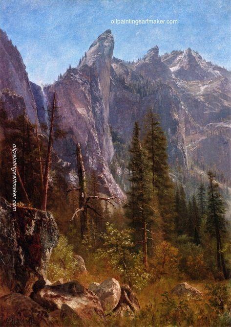 Albert Bierstadt Lost Arrow, Yosemite Valley, painting ...