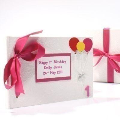 Personalised Childs Birthday Photo Album. £24.99 #BabyPhotoAlbum #BirthdayAlbum #PersonalisedGifts #PhotoGifts #BabyGifts #NewBaby