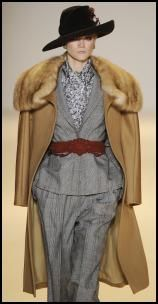 Caroline Herrera's camel coat
