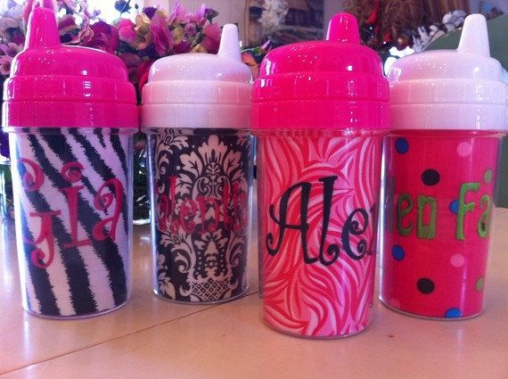 DIY Toddler Sippy Cups via JoJo's Blessings. Blank ones are $3.50 each
