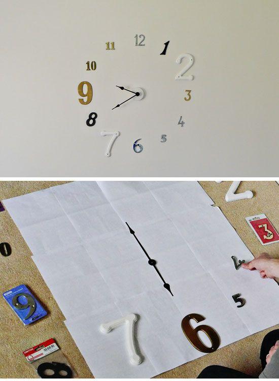 Frameless Wall Clock | Click Pic for 26 DIY Living Room Decor on a Budget | DIY Living Room Decorating Ideas