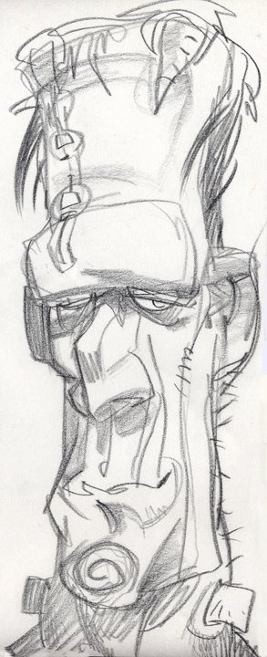 Frankenstein ________________________- Love the gestural feeling to this sketch.