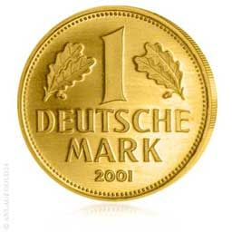 Goldmark der Deutschen Bundesbank - 1 DM Gold 2001 - Gold kaufen in seiner schönsten Form...