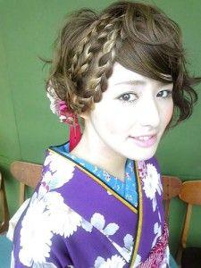Hair with kimono