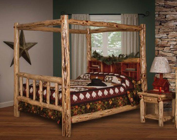 39 Of The Most Ideal Cover Bed Suggestions Log Canopy Bed King Size Canopy Bed Cool Beds