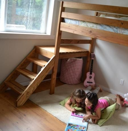 Camp Loft Bed With Stair Junior Height Loft Bed Plans
