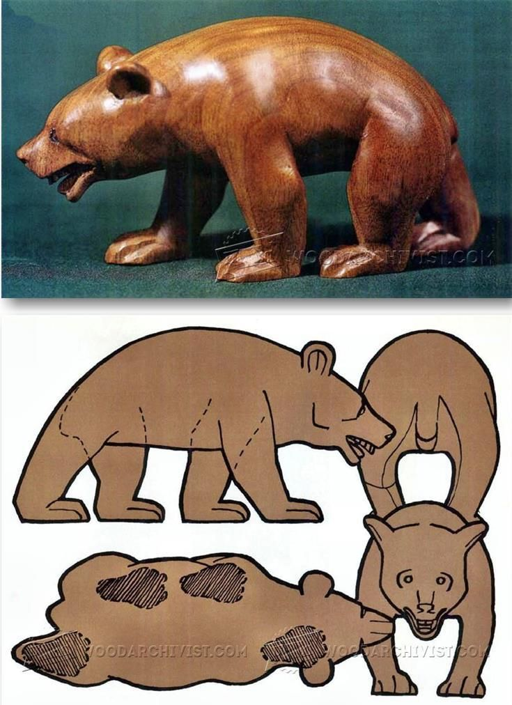 Carving Bear - Wood Carving Patterns and Techniques | WoodArchivist.com