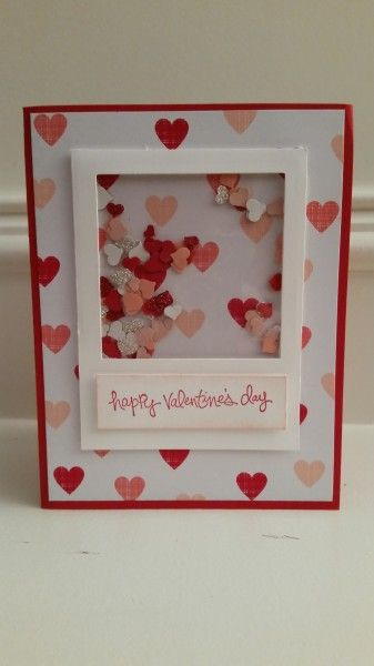 Looks like you have to be a member of this site to see how they made this card.  But I'm sure you could use a clear piece of velum with the raised foam tape & put heart confetti inside.  Cute card!