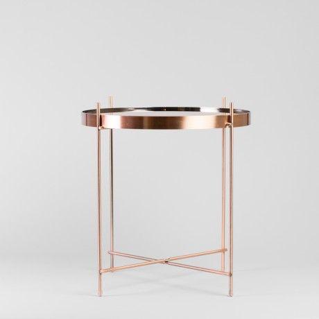 copper plated side table case goods pinterest kupfer. Black Bedroom Furniture Sets. Home Design Ideas