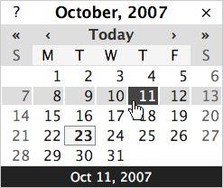 DHTML / JavaScript Calendar