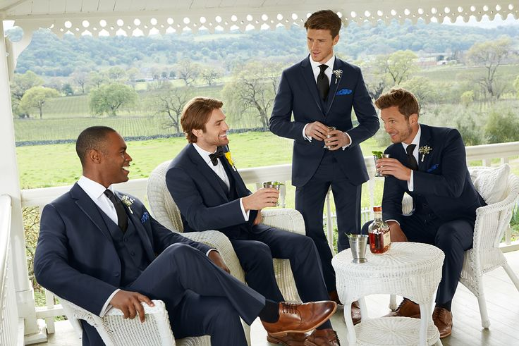 The Joseph Abboud navy tux. Perfect for every groom and every wedding venue. Get $40 off each suit or tux rental plus more perks when you register at Men's Wearhouse.