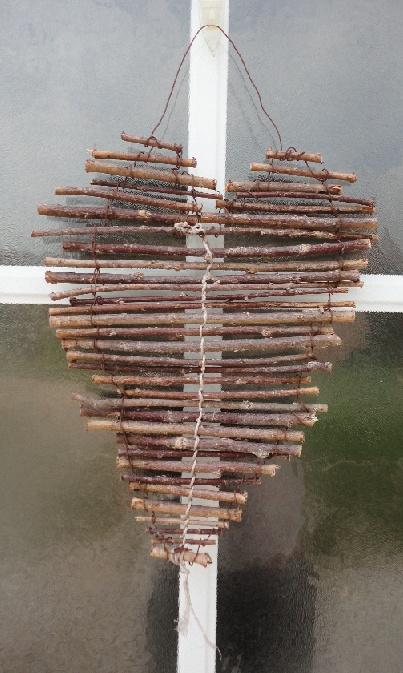 made this heart myself :) #DIY #garden #branches