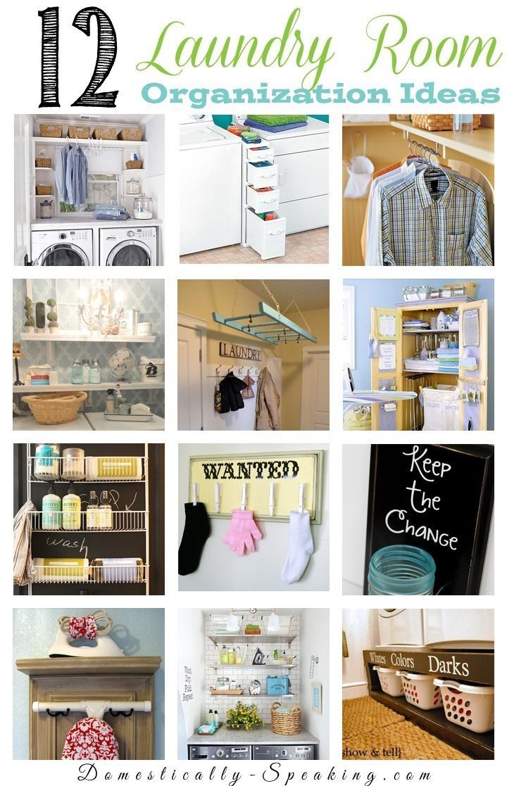 12 Great Laundry Room Organization Ideas - make the most of a small space with some great DIY storage ideas.