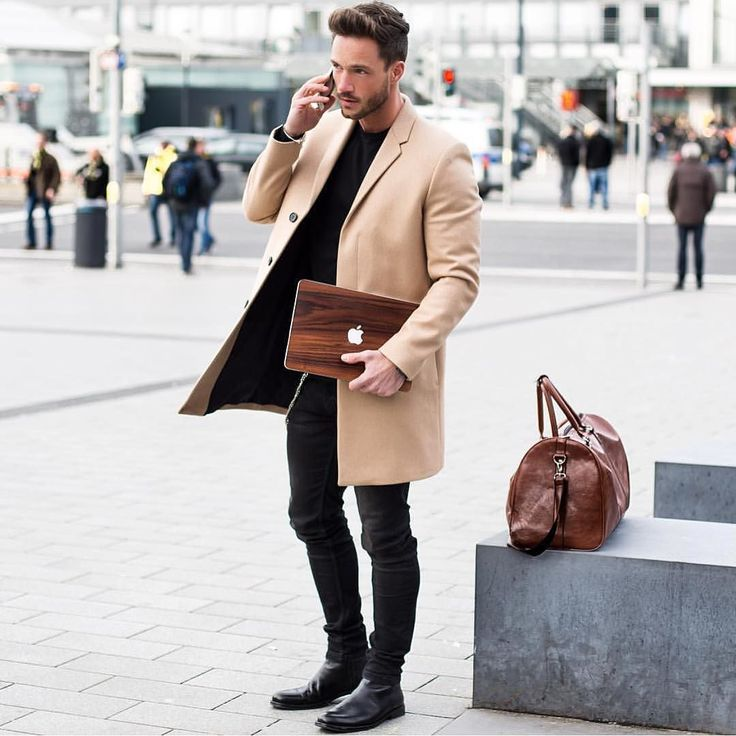 Camel coat for men  Men's fashion