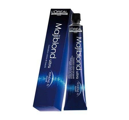 L'Oréal Professionnel Majiblond Haarverf 900S 50ml  L'Oréal Professionnel Majiblond. Deze permanente verhelderende kleuring geeft een ultra blonde maar zachte look. De Ionen-G en de nieuwe Incell technologie verzorgt het haar en verstevigt van de kern tot het oppervlak. Geeft stralend gezond haar met een perfecte kleur. Biedt ontkleuring en nuancering in een proces en levert het ultieme blondeerresultaat.  EUR 9.25  Meer informatie