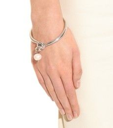 Makri for The Row - WHITE GOLD-PLATED 950 SILVER KNOT BRACELET WITH PEARL - mytheresa.com GmbH