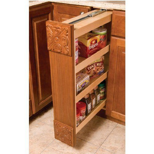 Omega National KitchenMate Base Pantry Filler, 3 inch W x 30 inch H by National. $125.78. Add extra storage space to your home by installing these unique KitchenMate Base Pantry Filler by Omega National. Featuring slides, adjustable shelving and a magnetic push catch, these fillers are constructed of solid maple and plywood and are available in 3 inch or 6 inch wide base applications. Front filler board and rosettes are sold separately. Ships via USP/FedEx Ground.