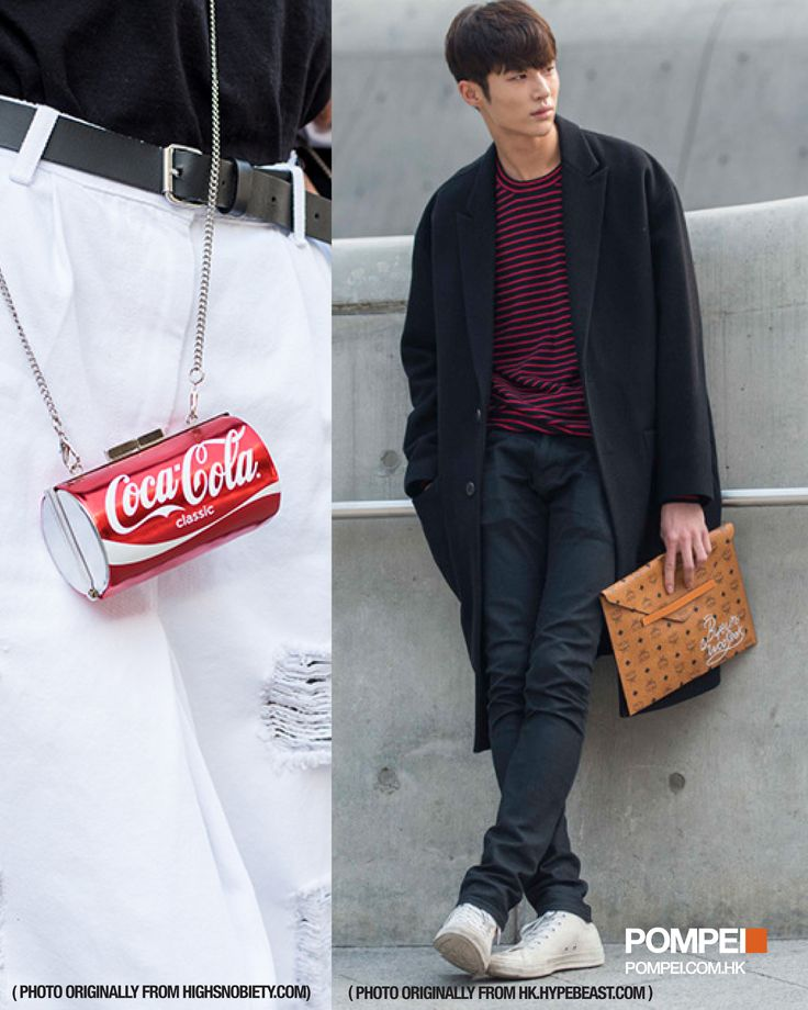 "Seoul Fashion Week attracted a lot of fashion fans. Besides fashion, accessories also are the focus. Just like MCM clutch and ""Coca-Cola Can"" cross body bag, they are eye catching.  #Pompei #Fashon #SFW #Seoul #Accessories #MCM #Clutch #CocaCola #Hangbag #Crossbodybag #Lookoftheday #Fashionweek #Follow #Shopping #Men #Women"