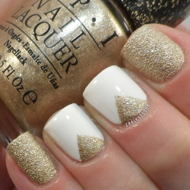 OPI- Honey Rider and Essie- Blanc  by:carlysisoka